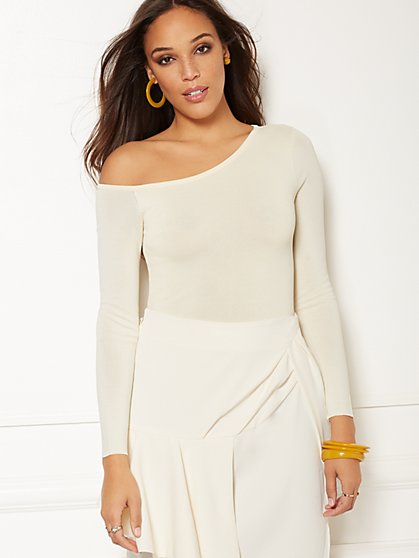 Rachelle One-Shoulder Bodysuit - Eva Mendes Collection - New York & Company