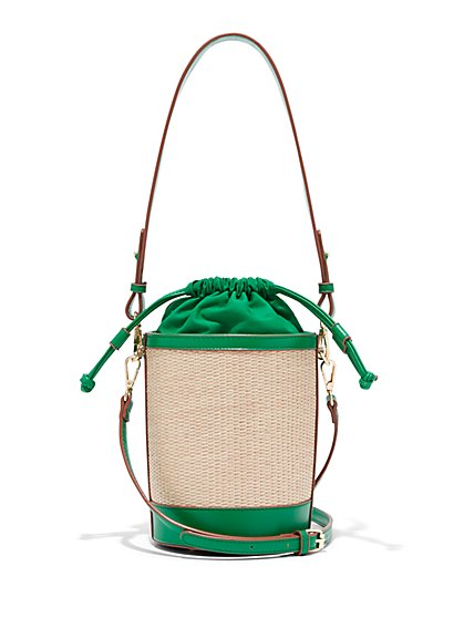 Raffia Bucket Bag - Eva Mendes Collection - New York & Company