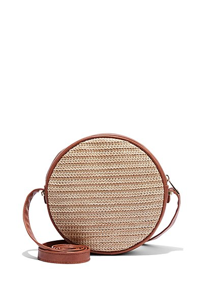 Raffia Crossbody Bag - New York & Company