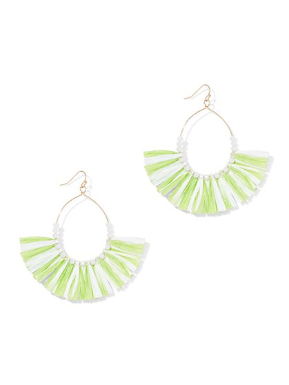Raffia Fan Drop Earring - New York & Company