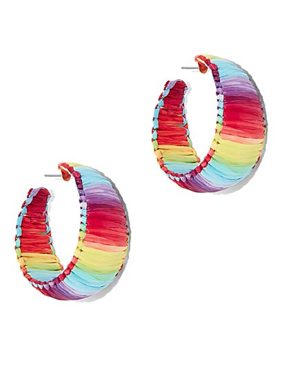 Raffia Hoop Earring - New York & Company