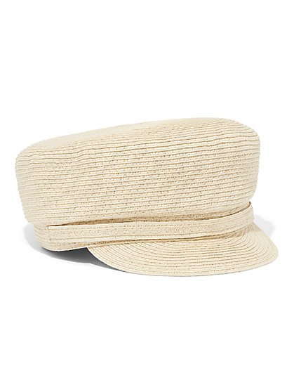 Raffia Newsboy Hat - New York & Company