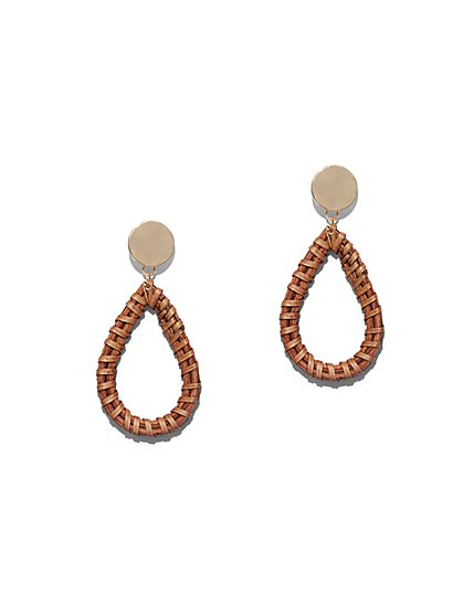 Raffia Open-Teardrop Earring - New York & Company