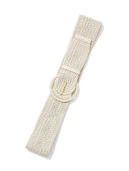 Raffia Wide Belt - New York & Company