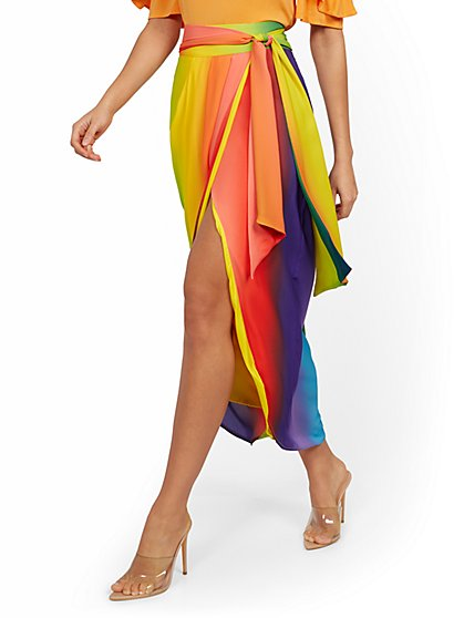 Rainbow Draped Skirt - New York & Company