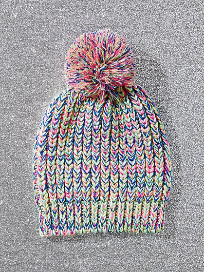 Rainbow Pom-Pom Hat - New York & Company