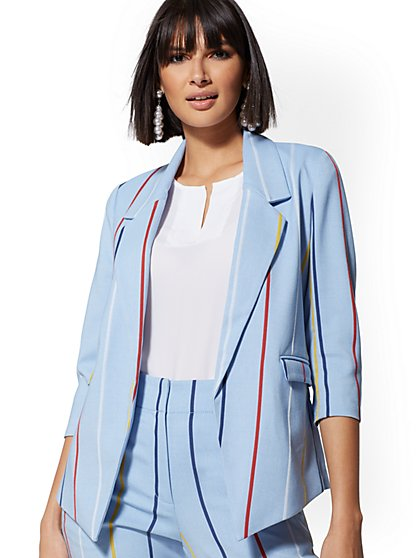 Rainbow Stripe Madie Blazer - 7th Avenue - New York & Company