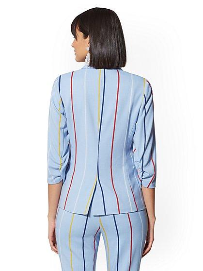 7fbf45eb9 ... Rainbow Stripe Madie Blazer - 7th Avenue - New York & Company