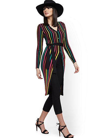 Rainbow Sweater Duster - New York & Company