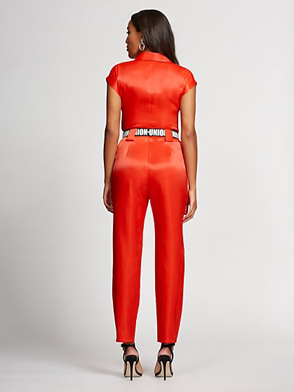 e03205056f ... Red Belted Jumpsuit - Gabrielle Union Collection - New York & Company
