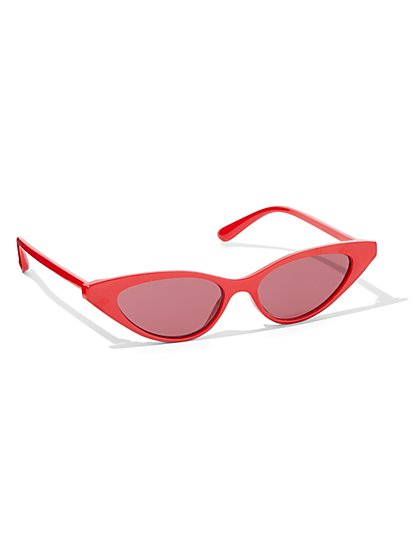 Red Cat-Eye Sunglasses - New York & Company