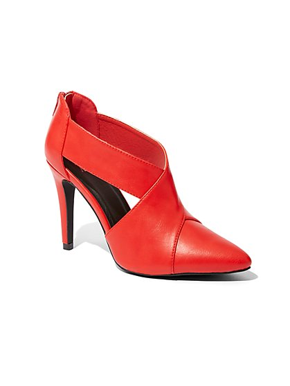 Red Crisscross Cutout Pump - New York & Company