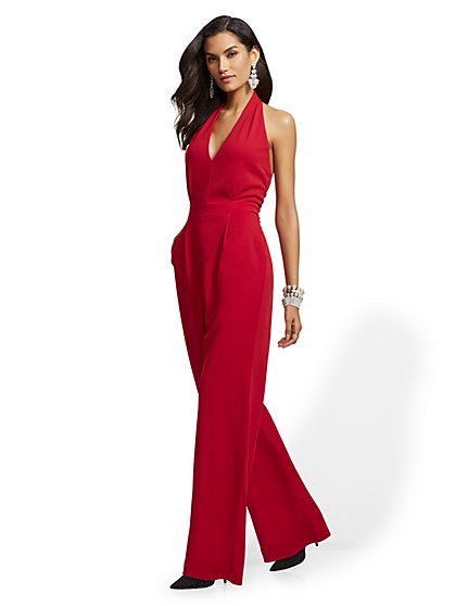 Red Halter Jumpsuit - New York & Company