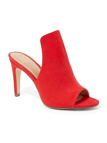 Red High-Heel Mule Sandal - New York & Company