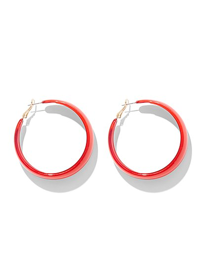 Red Hoop Earring - New York & Company