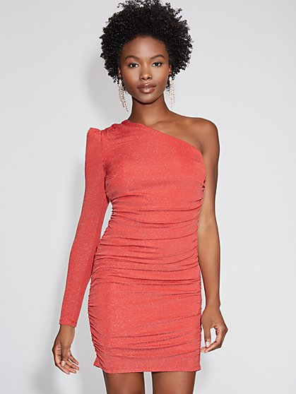 Red One-Shoulder Sheath Dress - Gabrielle Union Collection - New York & Company