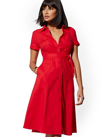 1e77e2494419 Red Safari Shirtdress - New York   Company ...