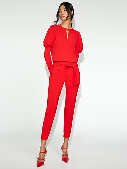 Red Slim-Leg Pant - Gabrielle Union Collection - New York & Company