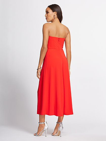 8aa3d5f88498 ... Red Strapless Culotte Jumpsuit - Gabrielle Union Collection - New York  & Company ...