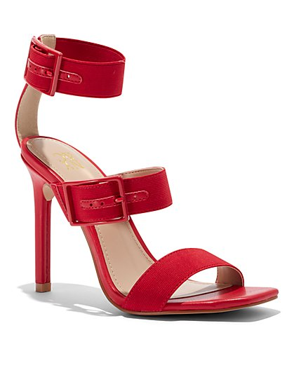 Red Strappy High-Heel Sandal - New York & Company