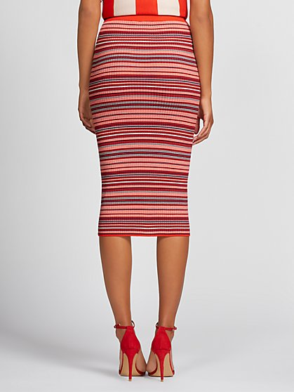 4fc7b4fa5f3 ... Red Stripe Sweater Skirt - Gabrielle Union Collection - New York &  Company