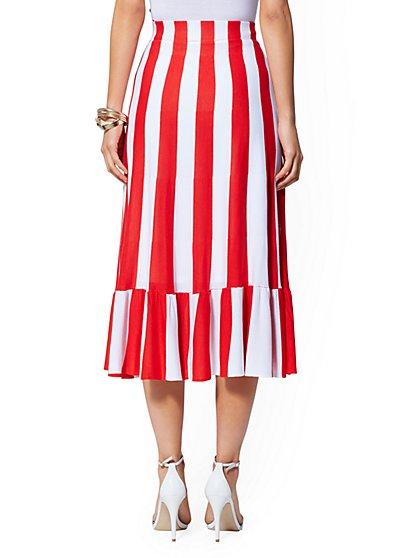 6a90e51e9b919 ... Red Stripe Sweater Skirt - New York & Company