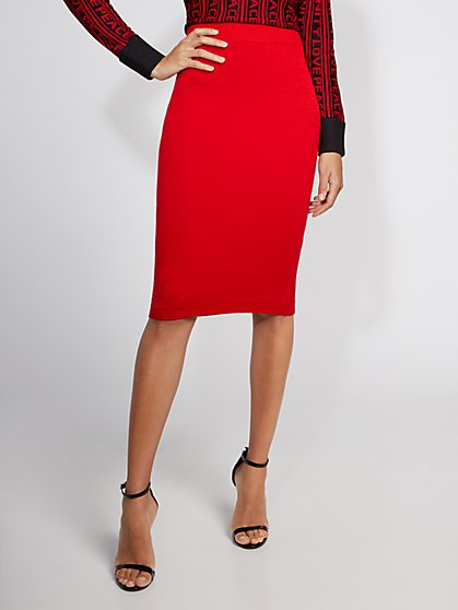 Red Sweater Skirt - Gabrielle Union Collection - New York & Company