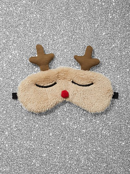 Reindeer Faux-Fur Eye Mask - New York & Company