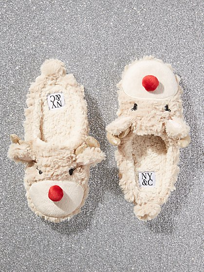 Reindeer Faux-Fur Slipper - New York & Company