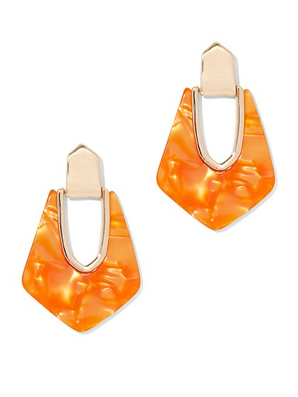 Resin Drop Statement Earring - New York & Company