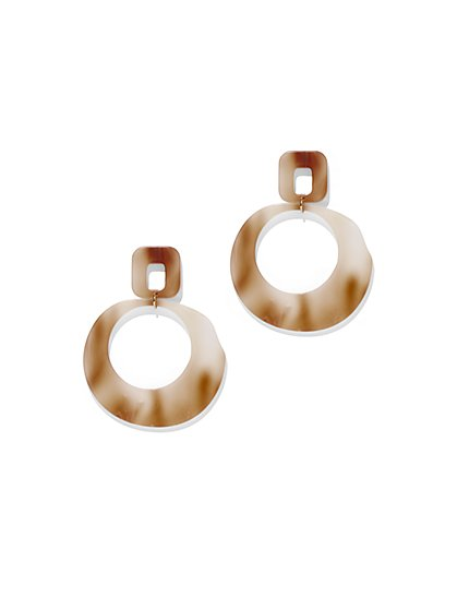 Resin Hoop Drop Earring - New York & Company