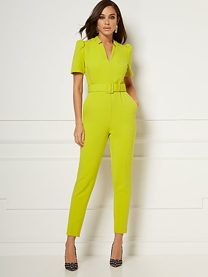 Reyna Belted Jumpsuit - Eva Mendes Collection - New York & Company