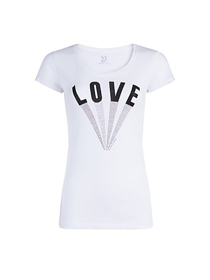 "Rhinestone ""Love"" Tee - New York & Company"