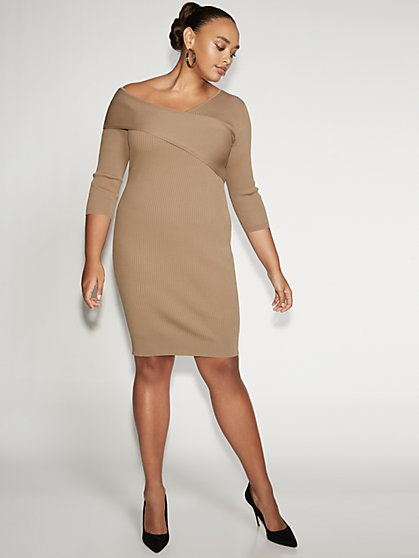 Ribbed-Knit Sweater Sheath Dress - Gabrielle Union Collection - New York & Company