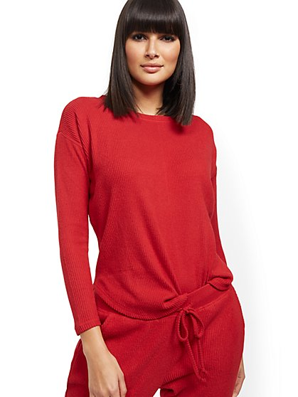 Ribbed-Knit Top - New York & Company