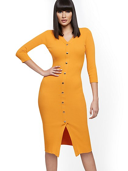 Ribbed Sweater Dress - 7th Avenue - New York & Company
