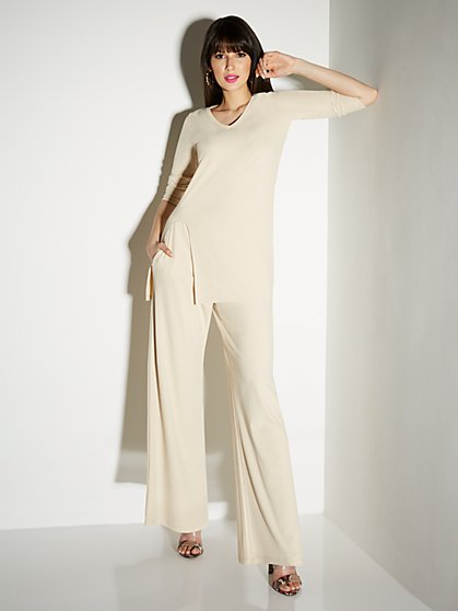 Ribbed Wide-Leg Pant - Everyday Collection - New York & Company