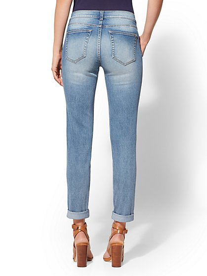 ... Rip   Repair Boyfriend Jeans - Indigo Blue - Soho Jeans - New York    Company fbf84781b557
