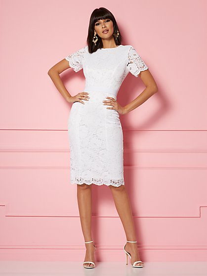 db9c1e51d7 Romina Lace Sheath Dress - Eva Mendes Party Collection - New York   Company  ...