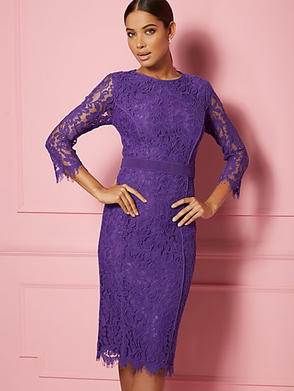 Romina Lace Sheath Dress - Eva Mendes Party Collection - New York & Company