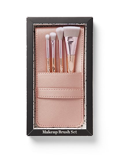 Rose Goldtone 4-Piece Brush Set - New York & Company