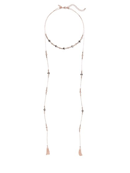 Rose Goldtone Beaded 2-Row Necklace - New York & Company