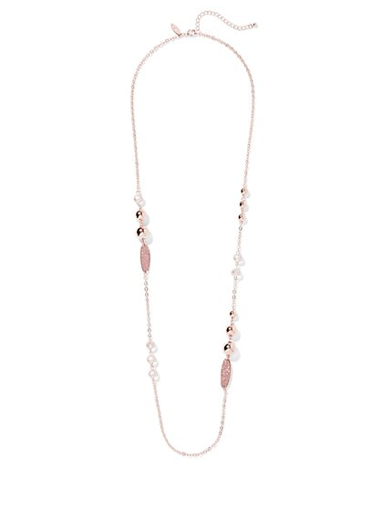 Rose Goldtone Beaded Necklace - New York & Company