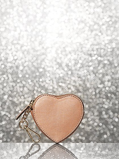 Rose Goldtone Heart-Shaped Coin Purse - New York & Company
