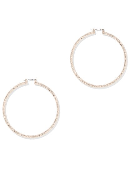 Rose Goldtone Hoop Earring - New York & Company