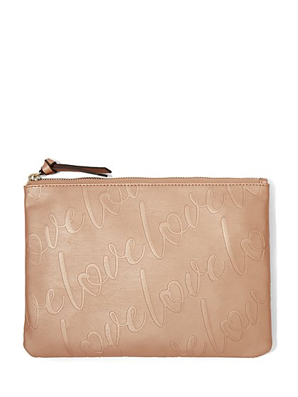 "Rose Goldtone ""Love"" Pochette - New York & Company"