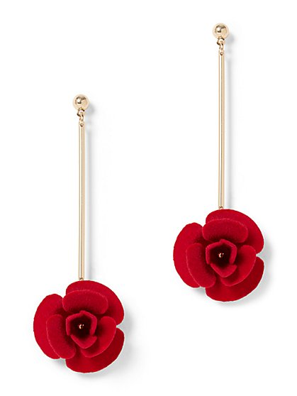 Rose Linear Drop Earring - New York & Company