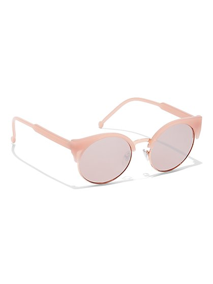 Round Color-Lens Sunglasses - New York & Company