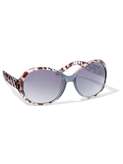 Round Faux-Tortoise Sunglasses - New York & Company