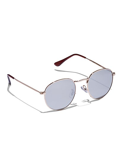 Round Goldtone Sunglasses - New York & Company